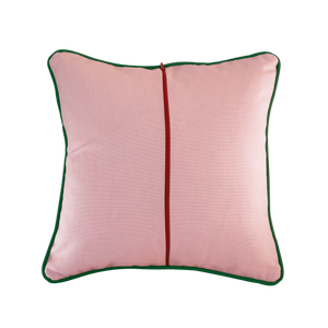 """The Frances"": Dusty Pink & Mango Tree Green piping"