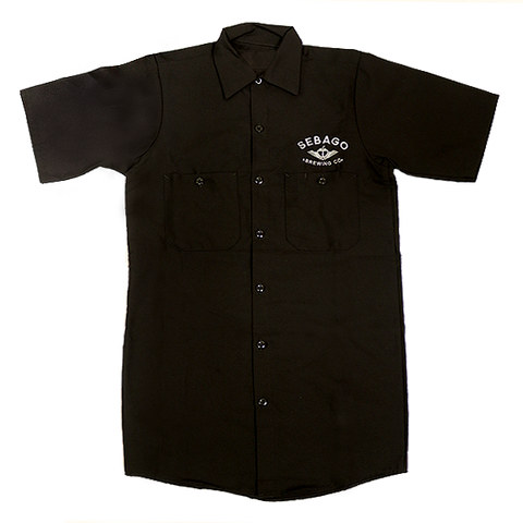 Brewers' Work Shirt - Black & White