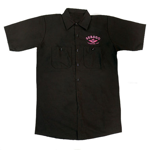 Brewers' Work Shirt - Black & Pink