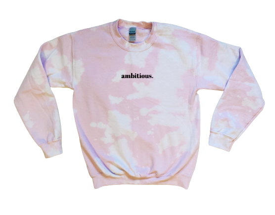 Pink Bleach Dyed Crewneck
