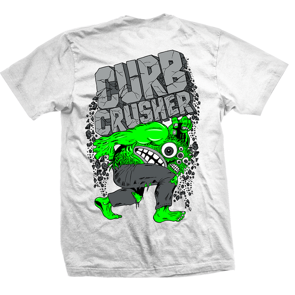 Curb Crusher King Tee White