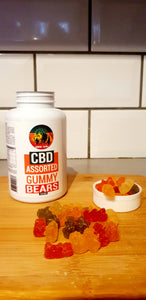 CBD infused Assorted Gummy Bears - 1000mg - Grow Guru UK