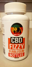 Load image into Gallery viewer, CBD infused Fizzy Bubblegum Bottles - 1000mg - Grow Guru UK