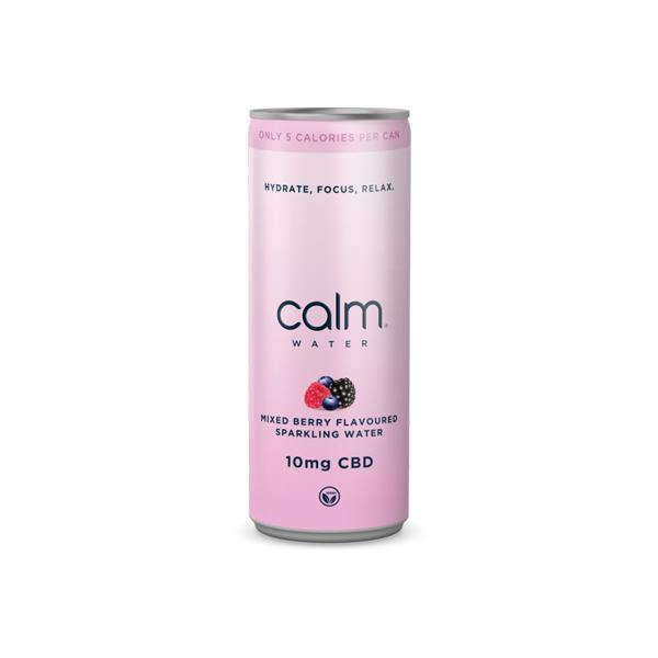 24 x Calm CBD 10mg Mixed Berry CBD Sparkling Water 250ml-CBD Products-Calm CBD-Grow Guru Ltd