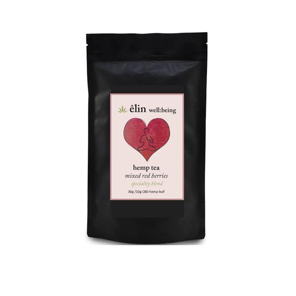 Êlin Well:being 10mg CBD Hemp Tea 30g - Mixed Red Berries (Green Tea)-CBD Products-Êlin Well:being-Grow Guru Ltd