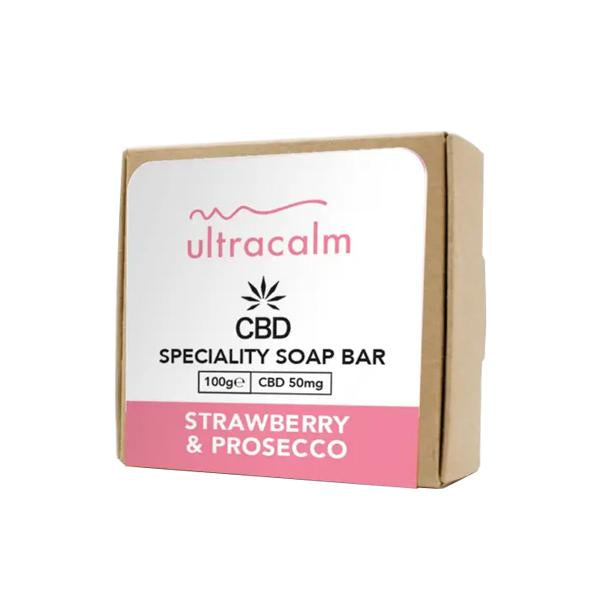 Ultracalm 50mg CBD Soap 100g-CBD Products-Ultracalm-Strawberry & Prosecco-Grow Guru Ltd
