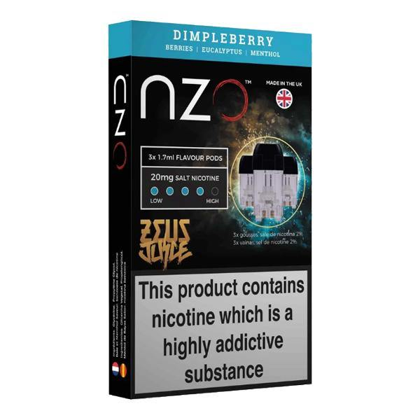 NZO 20mg Zeus Salt Cartridges with Red Liquids Nic Salt (50VG/50PG)-Vaping Products-NZO-Dimpleberry-Grow Guru Ltd