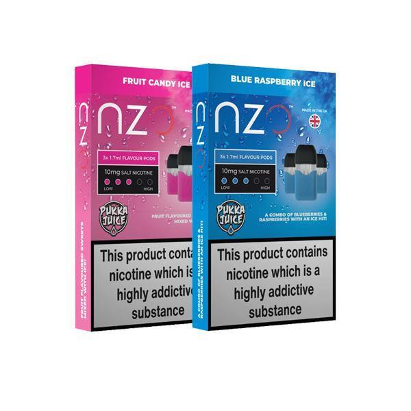 NZO 10mg Pukka Juice Salt Cartridges with Red Liquids Nic Salt (50VG/50PG)-Vaping Products-NZO-Grow Guru Ltd