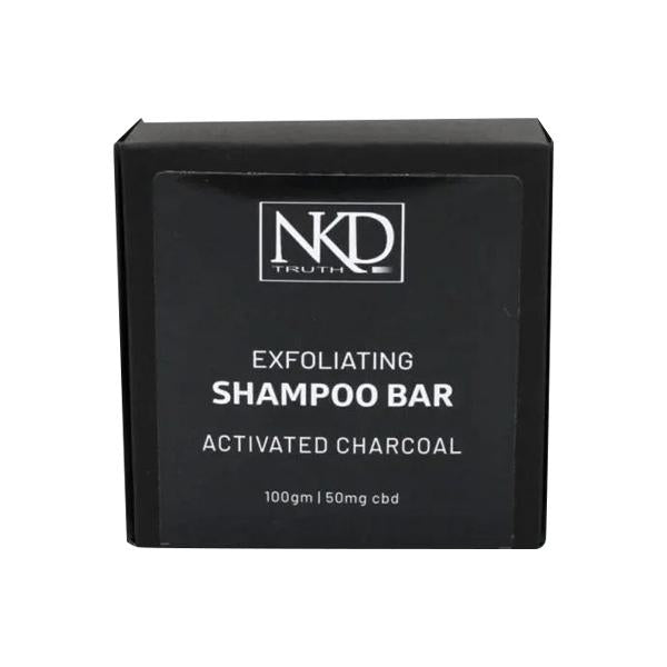 NKD 50mg CBD Activated Charcoal Shampoo Bar 100g-CBD Products-JCS Infusions-Grow Guru Ltd
