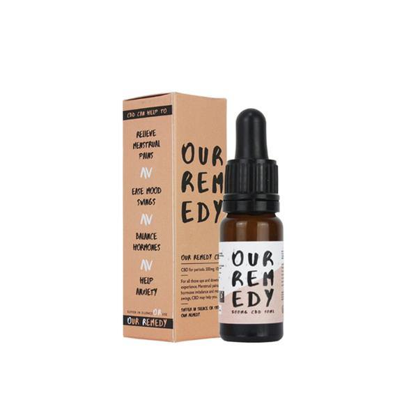 Our Remedy 500mg Natural CBD Oil 10ml - Moon Swings-CBD Products-Our Remedy-With pipette dropper-Grow Guru Ltd