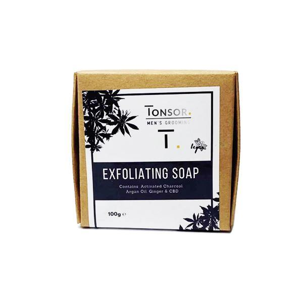 Tonsor Men's Grooming Exfoliating CBD Soap-CBD Products-Tonsor-Grow Guru Ltd