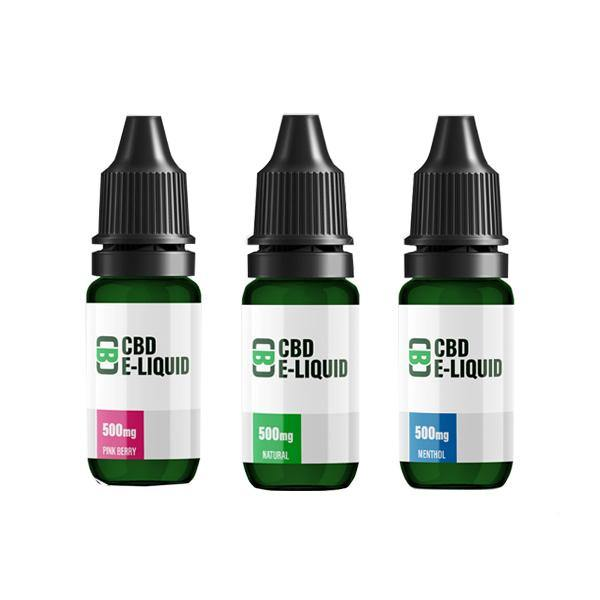 CBD Asylum 500mg CBD E-liquid 10ml (70VG/30PG) (Buy One Get One Free)-CBD Products-CBD Asylum-Grow Guru Ltd