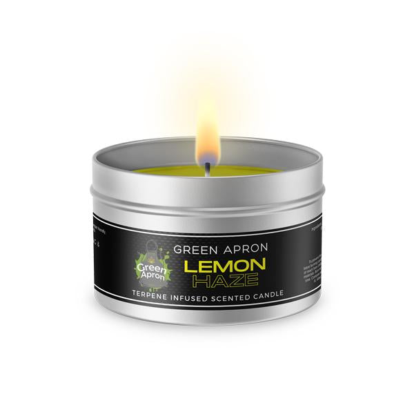 Green Apron's Terpenes Infused Soy Candles - 200g-CBD Products-Green Apron-Lemon Haze-Grow Guru Ltd