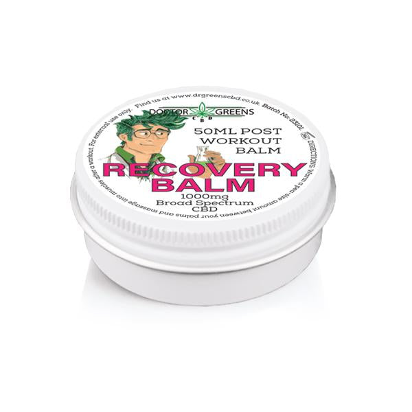 Doctor Green's 1000mg CBD Sports Balm 50ml - Recovery-CBD Products-Doctor Green's-Grow Guru Ltd
