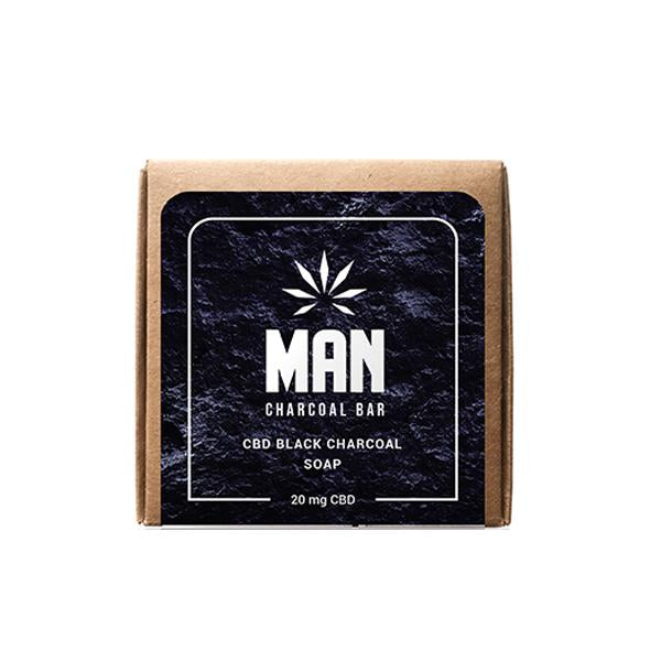 MAN 20mg CBD Charcoal Body Soap 100g-CBD Products-Man-Grow Guru Ltd