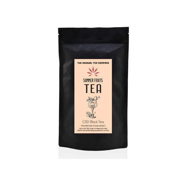 The Unusual Tea Company 3% CBD Hemp Tea - Summer Fruits 40g-CBD Products-JCS Infusions-Grow Guru Ltd