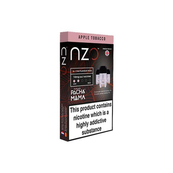 NZO 10mg Salt Cartridges with Pacha Mama Nic Salt (50VG/50PG)-Vaping Products-NZO-Apple tobacco-Grow Guru Ltd