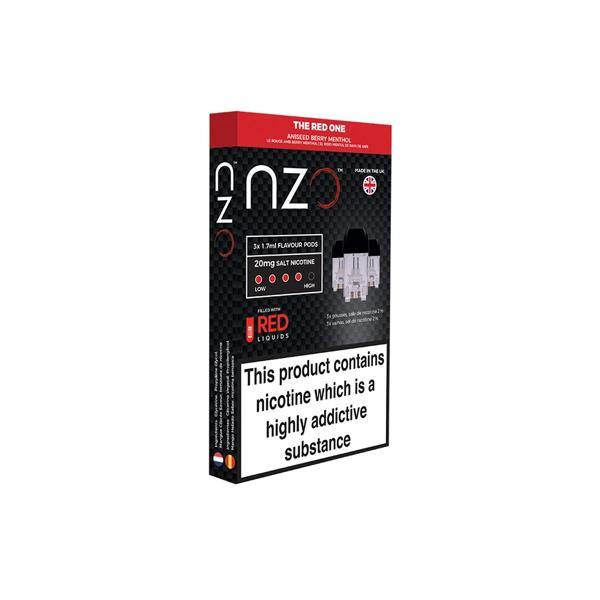 NZO 10mg Salt Cartridges with Red Liquids Nic Salt (50VG/50PG)-Vaping Products-NZO-Grow Guru Ltd