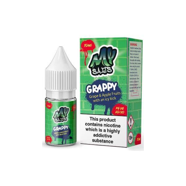 10mg My Salts Nic Salts 10ml (50VG/50PG)-Vaping Products-My E-liquids-Grow Guru Ltd