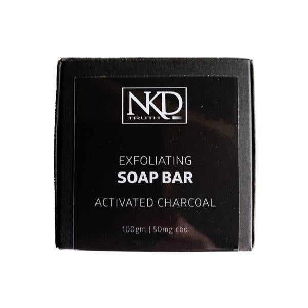 NKD 50mg CBD Activated Charcoal Soap Bar 100g-CBD Products-JCS Infusions-Grow Guru Ltd