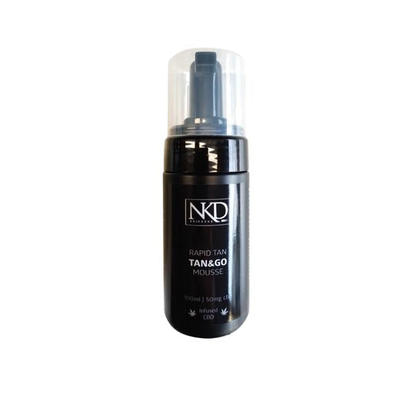 NKD 50mg CBD Tan & Go Professional Rapid Tan Mousse 100ml-CBD Products-JCS Infusions-Grow Guru Ltd