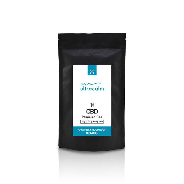 Ultracalm 1.5% CBD Hemp Tea - Peppermint 40g-CBD Products-JCS Infusions-Grow Guru Ltd