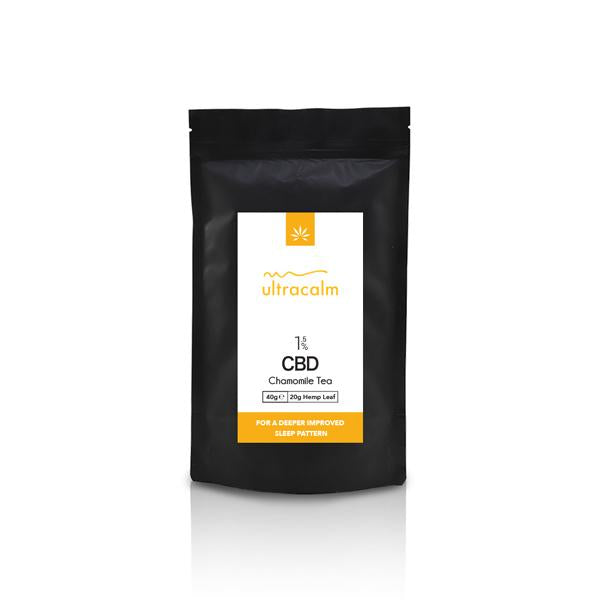 Ultracalm 1.5% CBD Hemp Tea - Chamomile 40g-CBD Products-JCS Infusions-Grow Guru Ltd