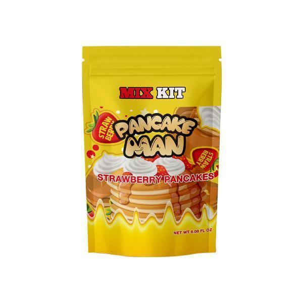 Pancake Man Strawberry Pancakes DIY Mix Kit 180ml-Vaping Products-Vape Breakfast Classics-Grow Guru Ltd