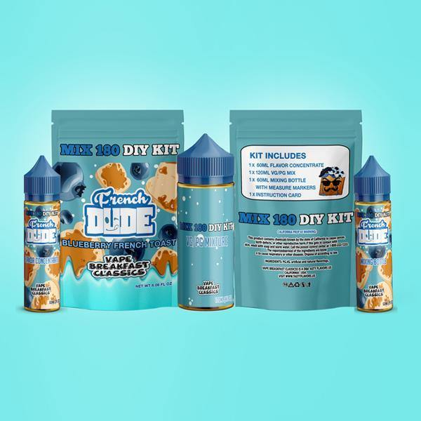French Dude Blueberry French Toast DIY Mix Kit 180ml-Vaping Products-Vape Breakfast Classics-Grow Guru Ltd