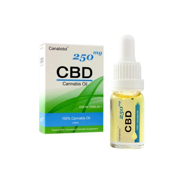 Canabidol 250mg CBD Cannabis Oil Drops 10ml-CBD Products-Canabidol-Grow Guru Ltd