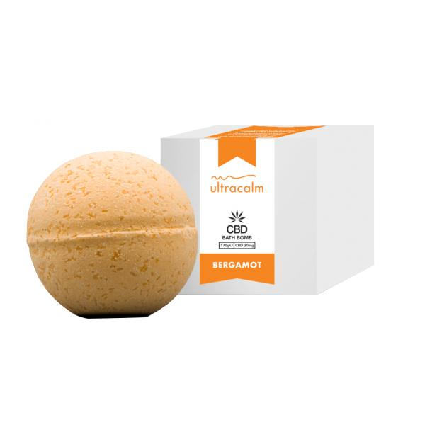 Ultracalm 20mg CBD Luxury Essential oil CBD Bath Bombs 170g-CBD Products-Ultracalm-Bergamot Bath Bomb-Grow Guru Ltd