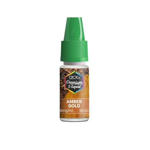 QCig Premium E-Liquids 10ml 6mg (60VG/40PG)-Vaping Products-QCig-Amber Gold-Grow Guru Ltd