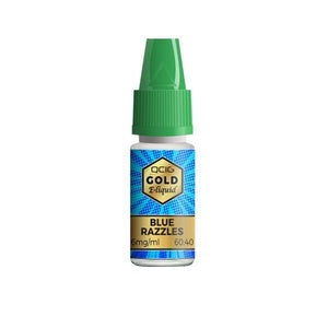 QCig Gold E-Liquids 10ml 18mg (60VG/40PG)-Vaping Products-QCig-Blue Razz-Grow Guru Ltd