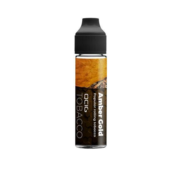 QCig Premium 50ml Shortfill 0mg (60VG/40PG)-Vaping Products-QCig-Amber Gold-Grow Guru Ltd