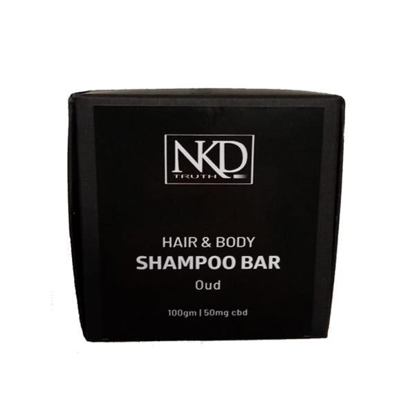 NKD 50mg CBD Speciality Body & Hair Shampoo Bar 100g - Oud-CBD Products-JCS Infusions-Grow Guru Ltd