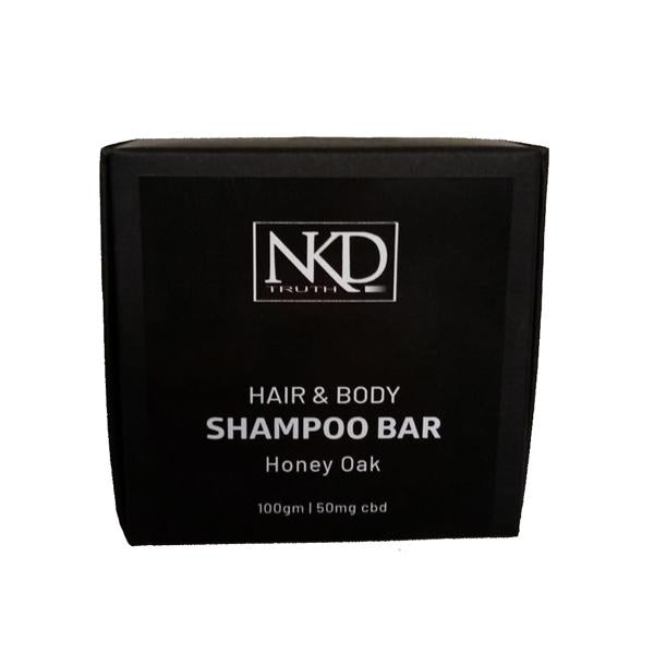 NKD 50mg CBD Speciality Body & Hair Shampoo Bar 100g - Honey Oak-CBD Products-JCS Infusions-Grow Guru Ltd