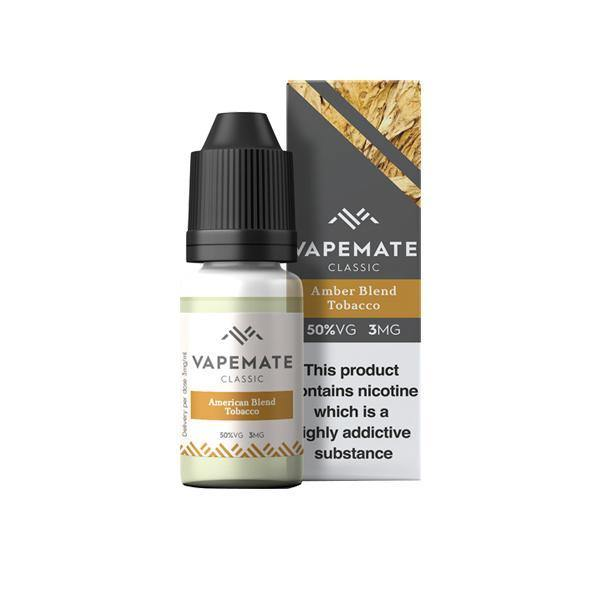 Vapemate Classic 0mg 10ml E-Liquid (70VG/30PG)-Vaping Products-Vapemate-Amber Blend Tobacco-Grow Guru Ltd