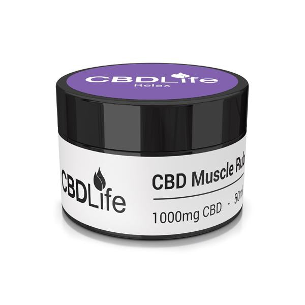 CBDLife 1000mg CBD Muscle Rub 50ml-CBD Products-CBDLife-Relax-Grow Guru Ltd