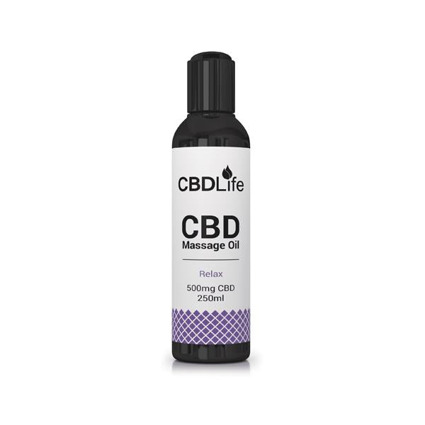 CBDLife 500mg CBD Massage Oil 250ml-CBD Products-CBDLife-Relax-Grow Guru Ltd