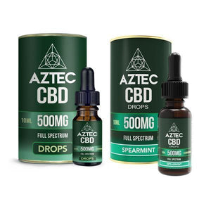 Aztec CBD Full Spectrum Hemp Oil 500mg CBD 10ml-CBD Products-Aztec CBD-Grow Guru Ltd