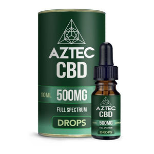 Aztec CBD Full Spectrum Hemp Oil 500mg CBD 10ml-CBD Products-Aztec CBD-Natural Hemp-Grow Guru Ltd