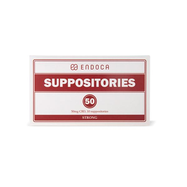 Endoca 500mg CBD Suppositories - 10 Count-CBD Products-Endoca-Grow Guru Ltd
