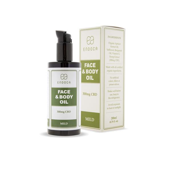 Endoca 300mg CBD Face & Body Oil - 200ml-CBD Products-Endoca-Grow Guru Ltd