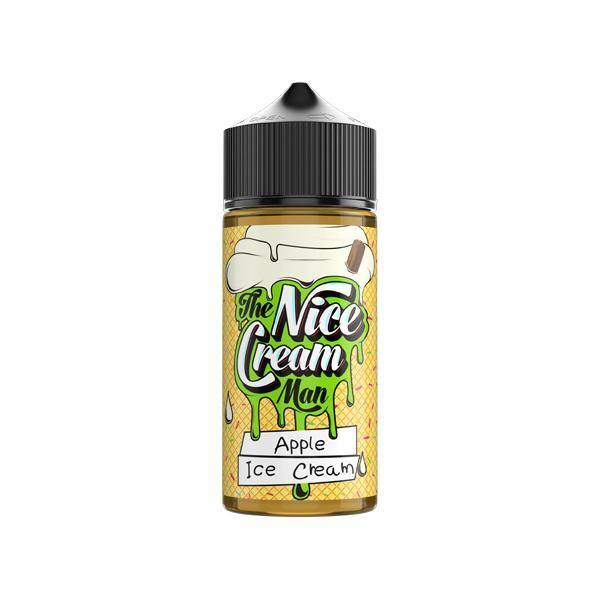 The Nice Cream Man 100ml Shortfill 0mg (70VG/30PG)-Vaping Products-UK Flavour-Apple Ice Cream-Grow Guru Ltd