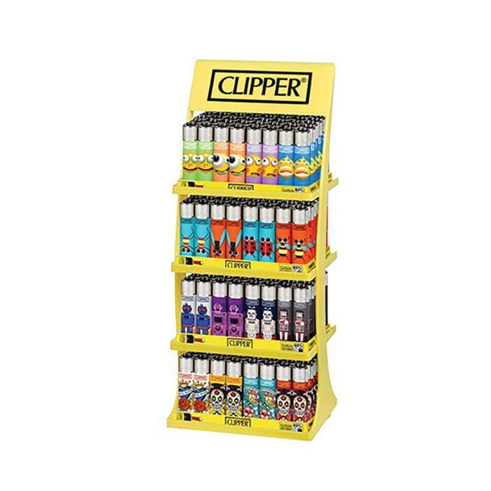 Clipper 4 Tier Filled Display - 180 Mixed Design Lighters - CL31045UKH-Smoking Products-Clipper-Grow Guru Ltd