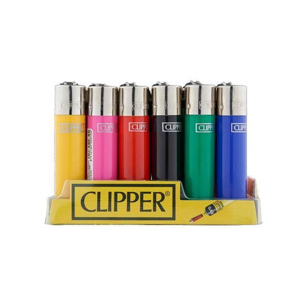 24 Clipper Solid Colours Classic Refillable Lighters-Smoking Products-Clipper-Grow Guru Ltd