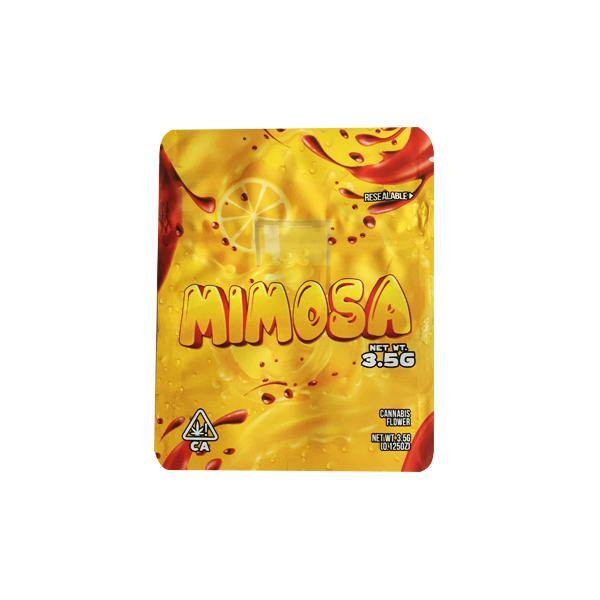 Custom Printed Mylar Zip Baggies 3.5g-Smoking Products-Unbranded-Mimosa-Grow Guru Ltd