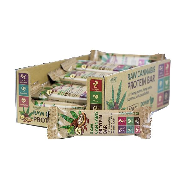 Euphoria Raw Cannabis Protein Bar - Cocoa Flavour-CBD Products-Euphoria-Grow Guru Ltd