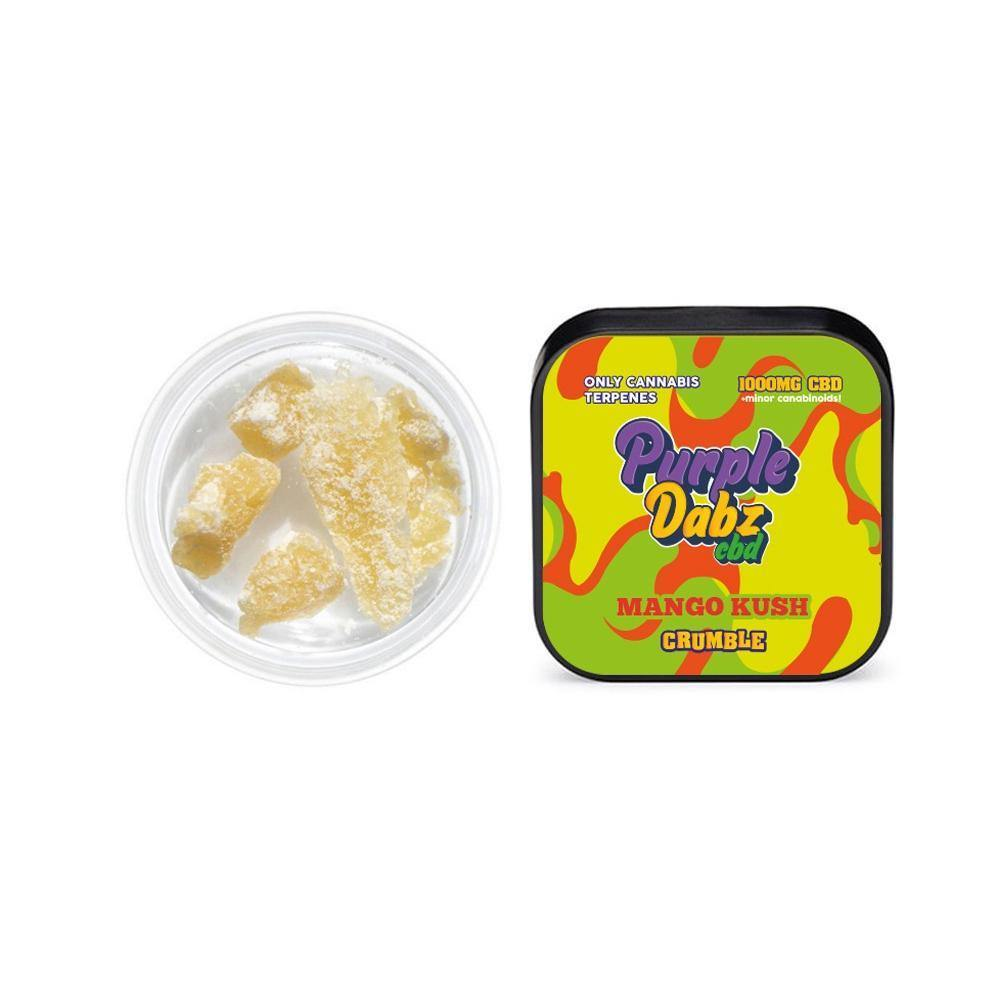 Purple Dabz by Purple Dank 1000mg CBD Crumble - Mango Kush-CBD Products-Purple Dank-0.5g-Grow Guru Ltd