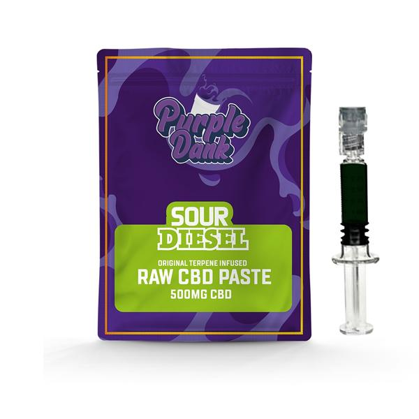 Purple Dank 1000mg CBD Raw Paste with Natural Terpenes - Sour Diesel-CBD Products-Purple Dank-0.5g-Grow Guru Ltd